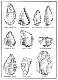 In the paleolithic age, people used rocks for various