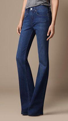 Chelsea Blue Bootcut Jeans   Burberry