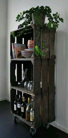 Pallet kitchen storage!!