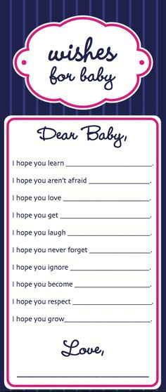 Wishes for baby. www.liofficiant.com