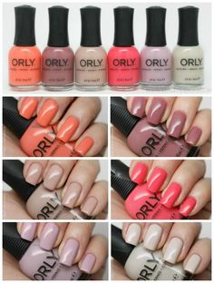 ORLY Blush Collection Review + Swatches! Loving these nail polish colors for Spring! #nailpolish #nails #beauty