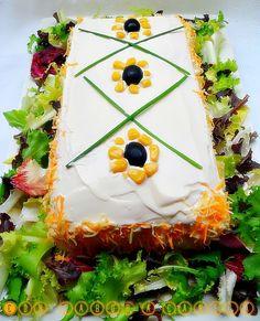 Pastel salado de salmón ,surimi y atún