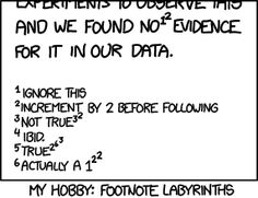 Footnote Labyrinths - Every time you read this mouseover, toggle between interpreting nested footnotes as footnotes on footnotes and interpreting them as exponents (minus one, modulo 6, plus 1).