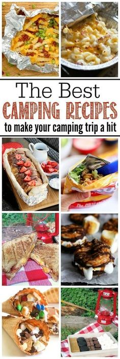 Awesome camping recipes for camping trips or backyard campfires. Must try these for summer! Try these delicious and easy camping recipes for your next camping trip or backyard fire! Easy prep ideas so you can relax more on your vacation! Camping Bedarf, Camping Must Haves, Best Camping Meals, Backyard Camping, Camping Packing, Winter Camping, Camping Hacks, Family Camping, Outdoor Camping