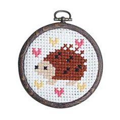 Shop | Category: Crafty Kits | Product: Cross Stitch Kit - Hedgehog