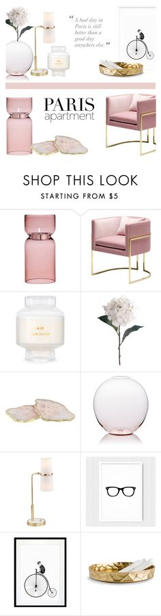 """""""Never a Bad day in Paris"""" by rachaelselina ❤ liked on Polyvore featuring interior, interiors, interior design, home, home decor, interior decorating, iittala, Tom Dixon, Pavilion Broadway and Anna New York"""