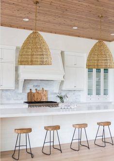 Casa Cook Rattan Pendant Light Wicker Eclectic Boho Mid | Etsy Wicker Pendant Light, Kitchen Pendant Lighting, Kitchen Pendants, Large Pendant Lighting, Light Pendant, Kitchen Design, Kitchen Decor, Do It Yourself Design, Casa Cook
