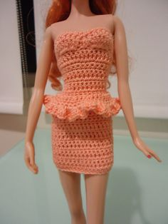 Ravelry: Barbie Simple Peplum Dress pattern by Dez Alyxander-free pattern
