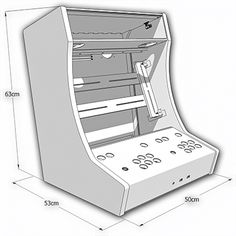 Kit Bois/polycarbonate pour auto-construction d'un Bartop 2 joueurs