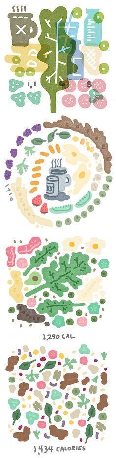 Food illustrations by Mikey Burton http://www.scotthull.com/artists/burton