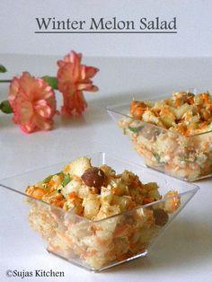 Winter melon/Ash gourd/Neer Poosani salad