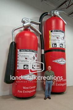 Giant Inflatable Fire Extinguisher Replica