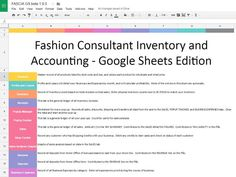Fashion Consultant Inventory and Accounting  by EZPZSpreadsheets