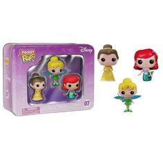 Pop Pocket Tins Princesas Ariel Tinker Bell Bela Disney Funk - R$ 149,90