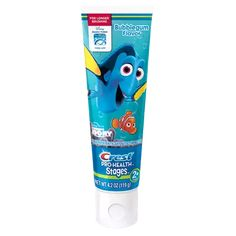 Help make brushing fun and teach your child good oral care habits that will last them a lifetime with Crest's Finding Dory bubblegum toothpaste. Dory Finding Nemo, Disney Finding Dory, Flavored Toothpaste, Kids Toothpaste, Dory Characters, Disney Eye Makeup, Timer App, Bubble Gum Flavor, Stage