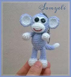 Maymun Anahtarlık TERİMLER: sh:sihirli halka *:tekrar sayısı x:sık iğne ss:iplik kaydırma v: artırma A: azaltma . Crochet Monkey, Crochet Teddy Bear Pattern, Crochet Bear, Crochet Animals, Free Crochet, Crochet Crafts, Crochet Toys, Amigurumi Patterns, Crochet Patterns