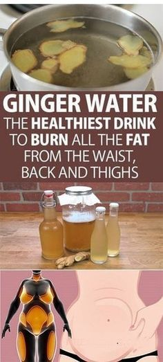 Ginger Water The Healthiest Drink To Burn All The Fat From The Waist, Back And Thighs! Learn all the amazing benefits of ginger water to lose weight and burn the most difficult fats in the body. Healthy Drinks, Healthy Tips, Healthy Recipes, Healthy Detox, Detox Recipes, Easy Detox, Alkaline Recipes, Healthy Beauty, Healthy Nutrition