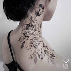 rose neck tattoos - Google Search