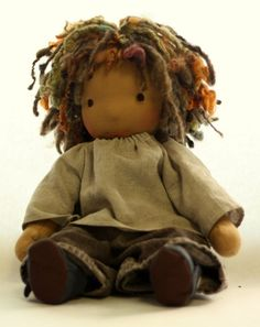 Rhythm- a 16 inch Waldorf boy doll with dreadlocks
