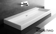 Berlin Two - Bench/Wall Basin by Studio Bagno Basin Vanity Unit, Basin Sink Bathroom, Vanity Units, Sinks, Vanities, Concrete Basin, Glass Basin, Trough Sink, Wall Mounted Sink