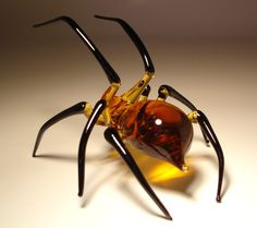 glass spider ... too pretty to be scary
