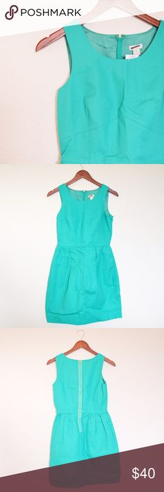 J. Crew Shift Turquoise Blue / Green Dress 00 NWT J. Crew Shift Turquoise Blue / Green Dress SIZE 00. In perfect condition with an adorable zippered back, this is perfect for any summer wedding, bridal event, or even Carolina Cup. J. Crew Dresses Mini