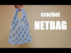 crochet netbag crochet net sac à tricoter [avec diagramme de tricotage] 네트 백 그물 백 뜨기 Bag Crochet, Crochet Purse Patterns, Crochet Market Bag, Crochet Diy, Crochet Handbags, Crochet Purses, Love Crochet, Crochet Stitches, Diy Bags Purses