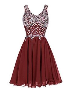 Women's Straps Prom Dresses Short Chiffon Beading Homecoming Formal Gowns Silhouette: A Line Fabric: Chiffion Embellishment: Beadings, Sequins Straps Prom Dresses, Hoco Dresses, Dance Dresses, Pretty Dresses, Homecoming Dresses, Evening Dresses, Chiffon Dresses, Graduation Dresses, Prom Gowns
