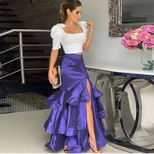 Two Piece Long Prom Dress , Satin Prom Dress 1683 - Renee Marino Prom Dresses A Line Prom Dresses, Cheap Prom Dresses, Evening Dresses, Summer Dresses, Dress For You, The Dress, Dress Long, Looks Chic, African Fashion