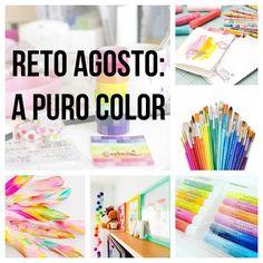 In The Scrap: Reto Agosto: A puro color