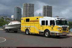 hawaii fire department   ... Rescue Honolulu Fire Department Emergency Apparatus Fire Truck Photo