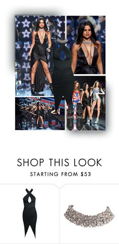 """""""Selena Gomez - Get the Look (VS Fashion Show 2015)"""" by fashionengineer ❤ liked on Polyvore featuring Victoria's Secret, Carrera y Carrera, GetTheLook, selenagomez, NewYearsEve and vsfashionshow"""