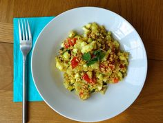 New Recipe: Cauliflower & Mint Quinoa Salad (And Beauty Blogger Mixup Assignment!)