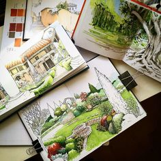 Colorful sketchbooks