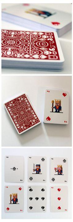 Juego de cartas pixeladas.