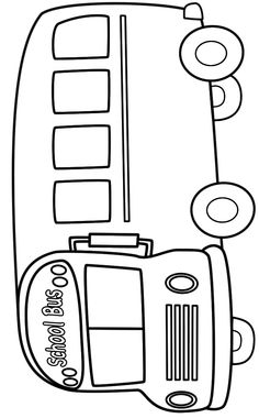School Bus (Side) - Coloring Page (Back to School) Preschool Coloring Pages, Preschool Art, Printable Coloring Pages, Colouring Pages, Coloring Pages For Kids, Coloring Sheets, Preschool Activities, Coloring Books, Fairy Coloring