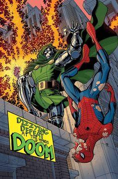 Dr. Destino vs. Homem Aranha.