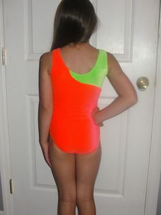 Girls cm Neon Gymnastics Dance Tumble Leotard Size Child Medium 7 8   eBay