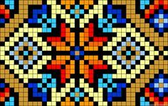 Stained glass perler bead pattern