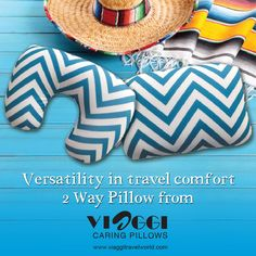 Relieves tension in your neck and shoulders with the versatile design of this #VIAGGI 2-in-1 #neckpillow. Convertible #pillow, can be used as back rest or neck rest. • Neck rest supports your head and neck. • Convertible design and travel clip offer convenience. Get it on www.viaggitravelworld.com