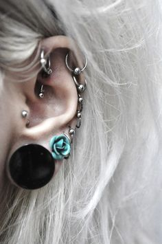 Looks exactly like my ears! Just ALL silver hoops! Makes me want even more :)