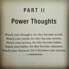 Watch your thoughts..