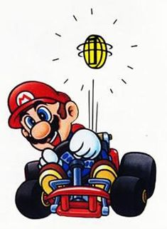 A collection of official artwork images from Super Mario Kart on the SNES including the main characters like Mario, Luigi, Bowser, Toad, Yoshi and Princess Toadstool and their karts. Super Mario Games, Super Mario Kart, Super Mario Brothers, Super Nintendo, Cool Stuff, Mickey Mouse Wallpaper, Cool Lego Creations, Mario And Luigi, Old Games