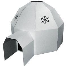 Cardboard Igloo Playhouse White