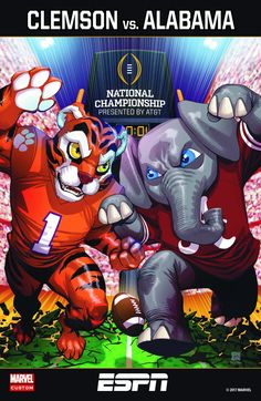 Marvel-style Alabama vs Clemson Game program Cover - ESPN CollegeFootball (@ESPNCFB) | Twitter #Alabama #RollTide #Bama #BuiltByBama #RTR #CrimsonTide #RammerJammer