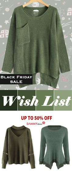 The time to fulfill your holiday wish list is now. Sammydress carries tons of sweaters and apparel that are all currently up to 50% off! Sort through a huge assortment of styles, patterns and great colors to find what you've been searching for. Start your holiday shopping today at sammydress.com