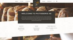 Good scent and message for a patisserie home page website.  #WebDesign