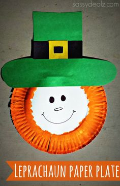 Paper Plate Leprechaun Craft For Kids