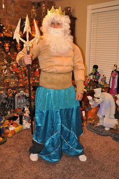 Halloween Costume - Disney Little Mermaid - King Triton Costume www.mydisneylove.com