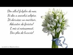 Un martisor aducator de fericire - YouTube 8 Martie, Youtube, Happy Birthday, Holidays, Flowers, Cards, Happy Aniversary, Vacations, Happy B Day